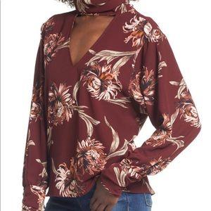 Women's Floral Choker Blouse